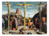 Calvary, Central Predella Panel from the St. Zeno of Verona Altarpiece, 1456-60 Giclee Print by Andrea Mantegna