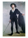 Jean Baptiste Faure (1830-1914) as Hamlet, 1877 Giclee Print by &#201;douard Manet