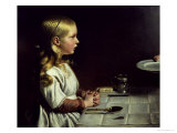 Florence Cope Saying Grace at Dinnertime Giclee Print by Charles West Cope