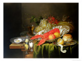 Still Life of Oysters and Lobsters Giclee Print by Reynier van Gherwen