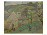 Hillside of the Hermitage, Pontoise, 1873 Giclee Print by Camille Pissarro