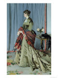 Portrait of Madame Louis Joachim Gaudibert, 1868 Giclee Print by Claude Monet