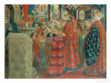 Seventeenth Century Russian Women at Church, 1899 Giclee Print by Andrei Petrovich Ryabushkin