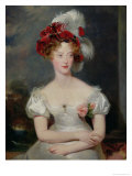 The Duchess of Berri (1798-1870) circa 1825 Giclée-tryk af Thomas Lawrence