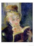 Girl Reading, 1874 Giclée-tryk af Pierre-Auguste Renoir