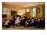 The Naughty School Children Giclee Print by Theophile Emmanuel Duverger