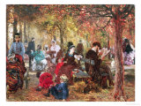 In the Luxembourg Gardens Giclee Print by Adolph von Menzel