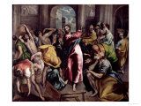 Christ Driving the Traders from the Temple, circa 1600 Giclee Print by  El Greco