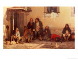 Dinner at the Zemstvo, 1872 Giclee Print by Grigori Grigorievich Mjasoedov