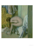 After the Bath, Woman Drying Her Left Foot, 1886 Reproduction proc&#233;d&#233; gicl&#233;e par Edgar Degas