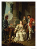 Electrical Experiment (One of a Series) Giclee Print by Louis-Michel van Loo