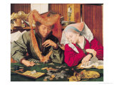 The Money Changer and His Wife, 1539 Giclee Print by Marinus van Roejmerswaelen