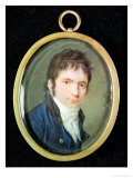 Miniature Portrait of Ludwig Van Beethoven (1770-1827), 1802 Giclee Print by Christian Hornemann