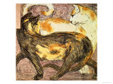 Two Cats Giclee Print by Franz Marc
