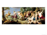 Diana and Her Nymphs Surprised by Fauns, 1638-40 Giclee Print by Peter Paul Rubens