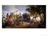 The Battle of Bouvines, 27th July 1214, 1827 Giclée-Druck von Horace Vernet