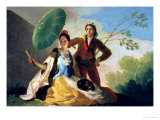 The Parasol, 1777 Premium Giclee Print by Francisco de Goya