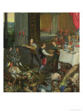 Allegory of Taste, Detail of Servers Bringing Wine, 1618 Giclee Print by Jan Brueghel the Elder