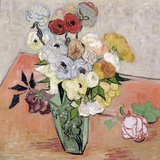 Roses and Anemones, c.1890 Giclee Print by Vincent van Gogh