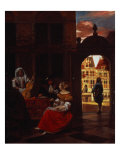 A Musical Party, 1677 Giclee Print by Pieter de Hooch