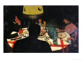 Dinner by Lamplight, 1899 Gicl&#233;e-Druck von F&#233;lix Vallotton