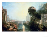 Dido Building Carthage, or the Rise of the Carthaginian Empire, 1815 Giclee Print by William Turner
