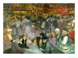 Ball on the 14th July Lámina giclée por Théophile Alexandre Steinlen