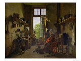 Interior of a Kitchen, 1815 Giclee Print by Martin Drolling