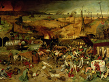 The Triumph of Death, circa 1562 Gicléetryck av Pieter Bruegel the Elder