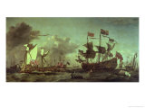 Royal Visit to the Fleet, 5th June 1672 Gicl&#233;e-Druck von Willem van de Velde