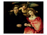 Signor Marsilio Cassotti and His Wife, Faustina, 1523 Giclee Print by Lorenzo Lotto