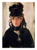 Berthe Morisot with a Bouquet of Violets, 1872 Premium Giclee Print by Édouard Manet