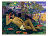Te Arii Vahine (The King's Wife), 1896 Gicledruk van Paul Gauguin