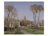 Entrance to the Village of Voisins, Yvelines, 1872 Giclee Print by Camille Pissarro