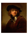 Tronie' of a Young Man with Gorget and Beret, circa 1639 Giclee Print by  Rembrandt van Rijn