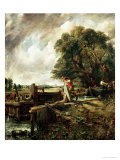 Barges Passing a Lock on the Stour Giclee Print by John Constable