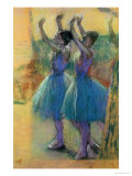 Two Blue Dancers Premium Giclee Print by Edgar Degas