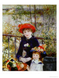Two Sisters, or on the Terrace, 1881 Lmina gicle por Pierre-Auguste Renoir