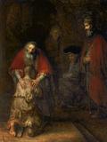 Den förlorade sonens återkomst, ca 1668–69 Gicléetryck av  Rembrandt van Rijn