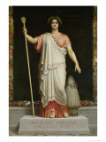 Allegory of the Republic, 1848 Reproduction procédé giclée par Dominique Louis Papety