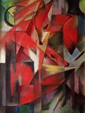 Räven, 1913 Gicleetryck av Franz Marc