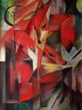 The Fox, 1913 Lmina gicle por Franz Marc