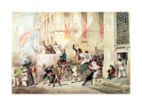 Circus Procession in Italy, 1830 Giclee Print by Richard Buckner