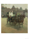 Carriages at Hyde Park Giclee Print by Albert Ludovici