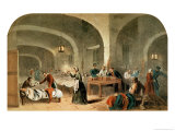 Sketch of a Ward at the Hospital at Scutari, circa 1856 Premium Giclee Print by Joseph-Austin Benwell