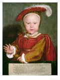Portrait of Edward VI as a Child Giclee Print by Hans Holbein the Younger
