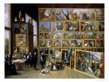 The Archduke Leopold Wilhelm (1614-62) in His Picture Gallery in Brussels, 1651 Giclee Print by David Teniers the Younger