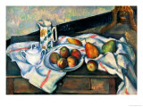 Still Life of Peaches and Pears, 1888-90 Giclee Print by Paul Cézanne