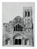 The Facade of La Madeleine De Vezelay Giclee Print by Eugène Viollet-le-Duc