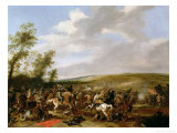 Battle Scene at Lutzen Between King Gustavus Adolfus of Sweden and the Troops of Wallenstein, 1632 Giclee Print by Palamedes Palamedesz